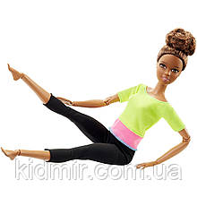 Кукла Барби из серии Безграничные движения Желтый топ Barbie Made to Move