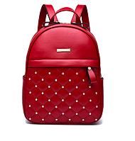Рюкзак женский кожзам городской Carla Fausti Красный, фото 1