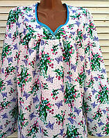 Теплая ночная рубашка из фланели 58 размер, фото 1