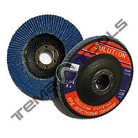 Круг лепестковый 180х22,23 Р80 шлифовальный торцевой (клт) Solution - циркониевый