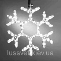 Светодиодная гирлянда снежинка с мерцанием Holiday Snowflake FLASH 30см белая (черн. кабель)