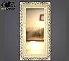 Зеркало настенное Bogota в бело с золотом раме, фото 5