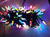 Гирлянда  КРИСТАЛЛ  LED 8mm на черном проводе, разноцветная