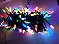 Гирлянда  КРИСТАЛЛ  LED 8mm на черном проводе, разноцветная, фото 1