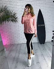 Женская шелковая блузка с длинным рукавом на пуговицах, фото 3