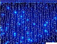 Гирлянда Штора (занавеска) 320 LED-5mm, 3m/2m синяя