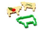 Форма для бутербродов Cow Party Animals Peleg Design