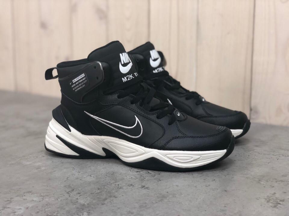 Зимние кроссовки Nike M2K Tekno Mid ( Черные / Белые )