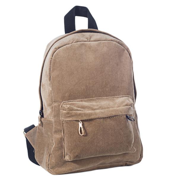 Городской женский вельветовый рюкзак Mayers, песочный, фото 5