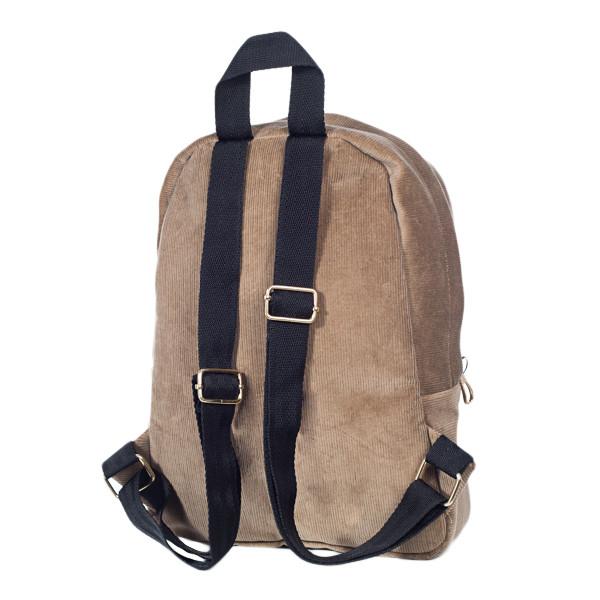 Городской женский вельветовый рюкзак Mayers, песочный, фото 6