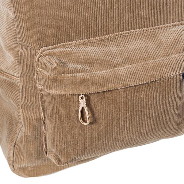 Городской женский вельветовый рюкзак Mayers, песочный, фото 7