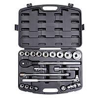 """Intertool ET-6023 Профессиональный набор инструментов 3/4"""", 20 ед. ( гол.19-50мм ) пластиковый кейс, Cr-V."""