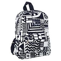 Маленький рюкзак молодежный черно-белый с абстрактным принтом Mayers 7.5 л