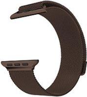 Ремешок браслет миланская петля Milanese loop Apple Watch 38/40 mm, Coffee, кофе