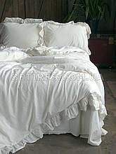 Комплект постельного белья 200x220 LIMASSO SNOW WHITE EXCLUSIVE молочный
