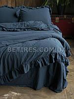 Комплект постельного белья 200x220 LIMASSO DRESS BLUE EXCLUSIVE синий