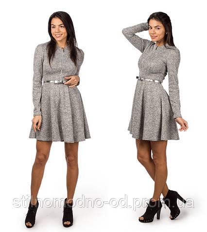 Стильное женское платье с поясом
