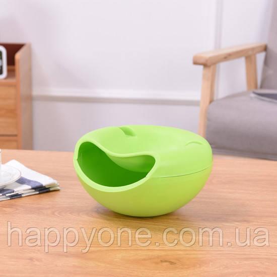 Миска для семечек с подставкой для телефона (салатовая)