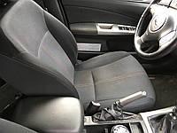 Сиденье водительское Subaru Forester S12, SH, с подогревом, ткань, регулировка высоты