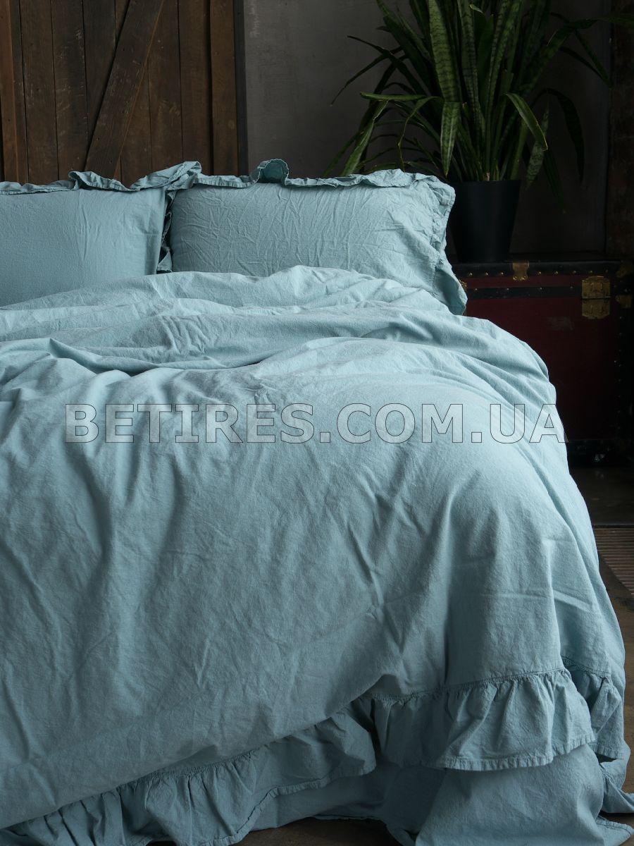 Комплект постільної білизни 200x220 LIMASSO MINERAL BLUE EXCLUSIVE блакитний