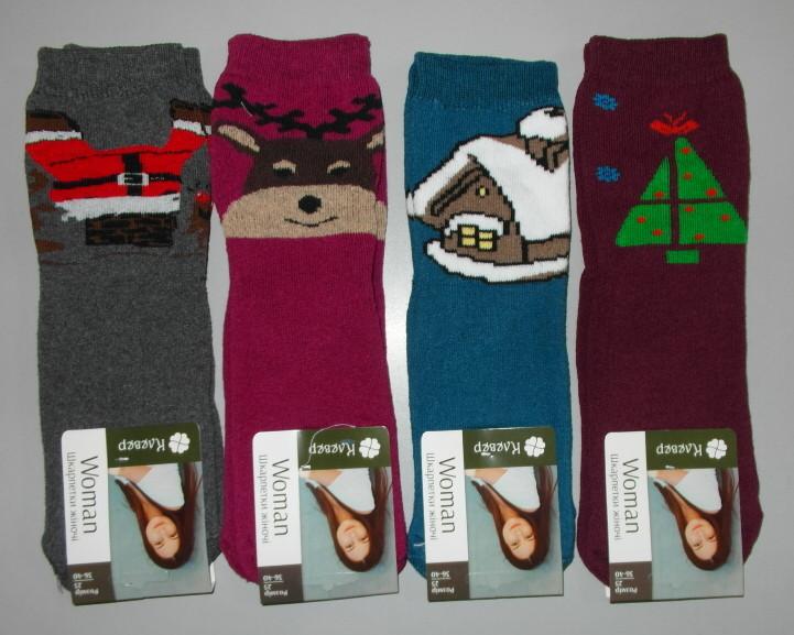 Носки женские махра новогодние 1 пара 36-40 раз зимние