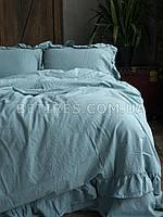 Комплект постельного белья СЕМЕЙНЫЙ LIMASSO MINERAL BLUE EXCLUSIVE голубой