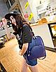 Рюкзак женский кожаный Hilary Синий, фото 3