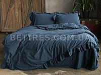 Комплект постельного белья СЕМЕЙНЫЙ LIMASSO DRESS BLUE EXCLUSIVE синий