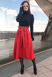Юбка красная