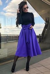 Юбка осенняя фиолетовая