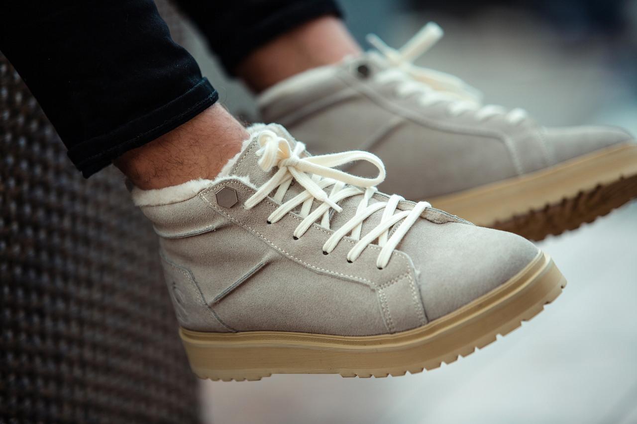 """Зимние ботинки на меху South Navy """"Серые"""""""