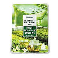 Тканевая маска Deoproceна основе экстракта алоэ и зеленого чая, фото 1
