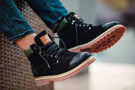 """Зимние ботинки на меху South Forest """"Black"""" (Черные), фото 2"""