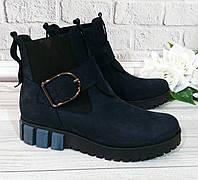 Женские ботинки от производителя, натуральный нубук, фото 1