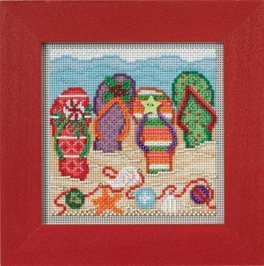 Набор для вышивки крестиком и бисером Holiday Flip Flops Mill Hill
