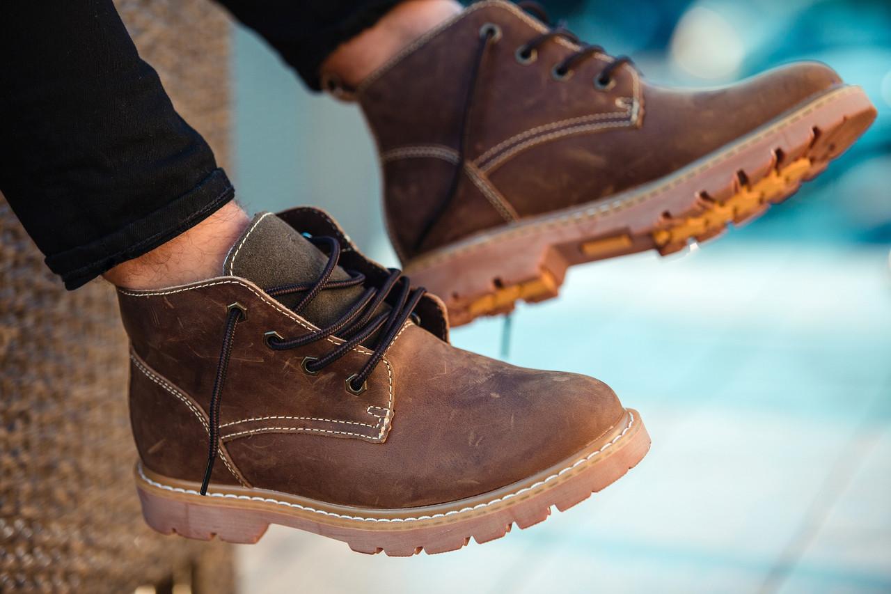 """Зимние ботинки на меху South Jaston """"Brown"""" (Коричневые)"""