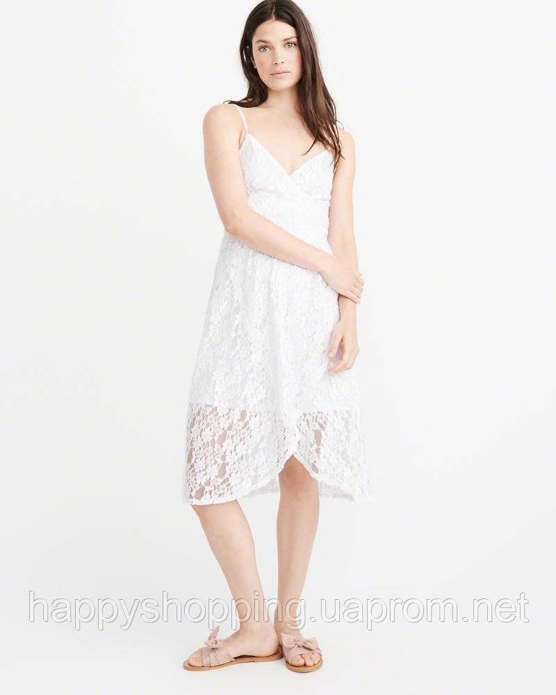 Женское белое ажурное  платье Abercrombie & Fitch