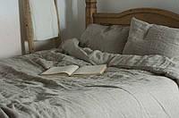 Льняное 2 спальное постельное белье