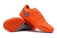 Футбольные сороконожки Nike Phantom Vision Academy TF Total Orange/Metallic Silver/Black, фото 1
