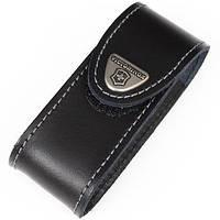 Чехол для ножа кожаный Victorinox (84-91 мм, до 4х слоев), чёрный, на липучке 4.0520.3