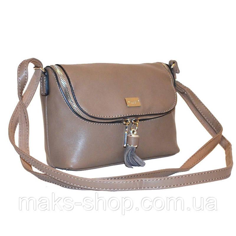 cb672ac653d5 Женская сумка на плечо David Jones CM2817 Кэмел - Maks Shop- надежный и  перспективный интернет