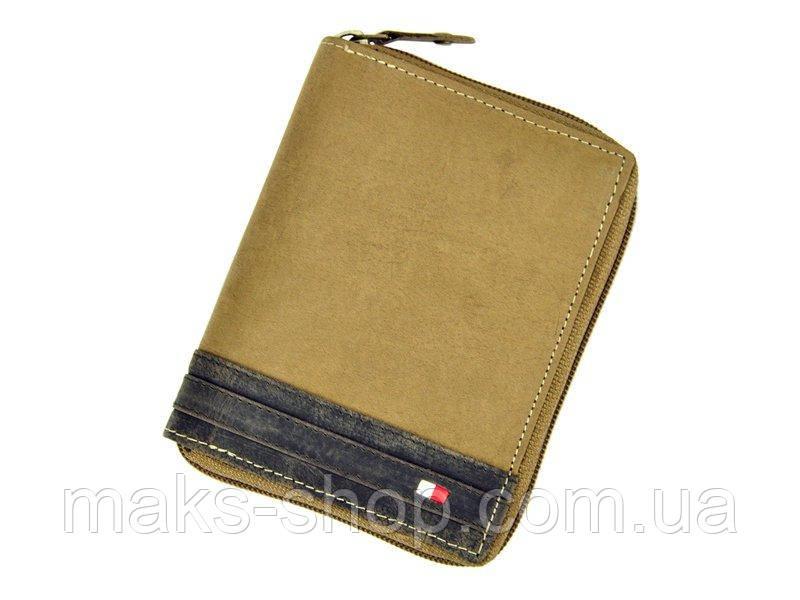 0a0b8033ca0d Светлый вертикальный мужской кожаный кошелек Wild N4Z-R Польша - Maks Shop-  надежный и