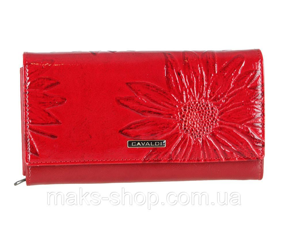cc31571a8c39 Женский красный кожаный кошелек на кнопке Cavaldi - Maks Shop- надежный и  перспективный интернет магазин