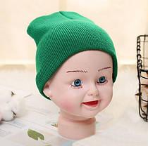 Детская вязанная демисезонная шапка