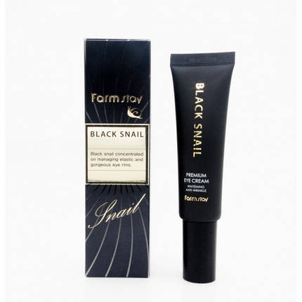 Премиум-крем для глаз с муцином черной улитки FARMSTAY Black Snail Premium Eye Cream, 50 мл, фото 2