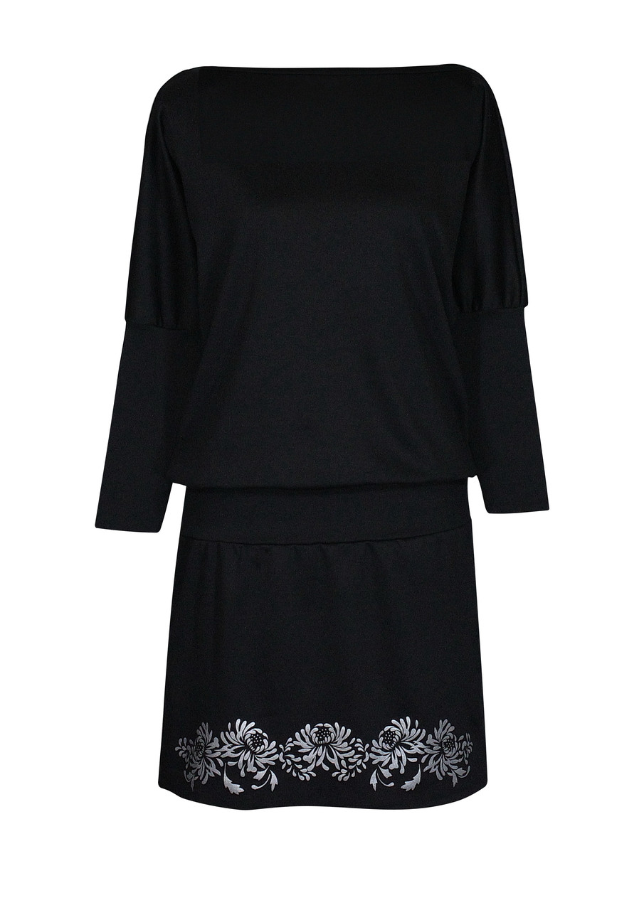 Платье летучая мышь вечернее Хризантемы plus size
