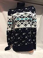 Женский свитер с горлом (р.46-50) купить оптом