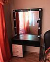 Гримерный столик с зеркалом и тумбой сбоку, фото 2