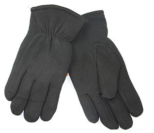 Перчатки мужские черные на меху (10 пар)