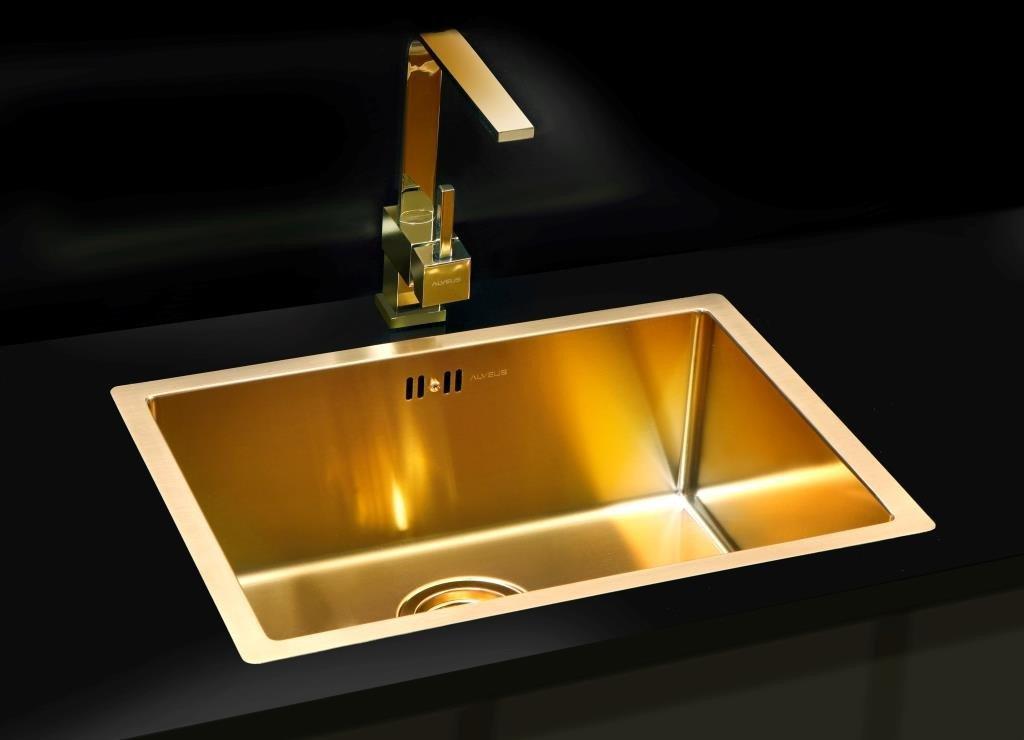 Кухонная мойка ALVEUS MONARCH QUADRIX 50 золото 1078580